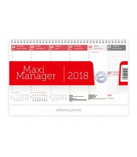 Table calendar Maximanager červený 2018