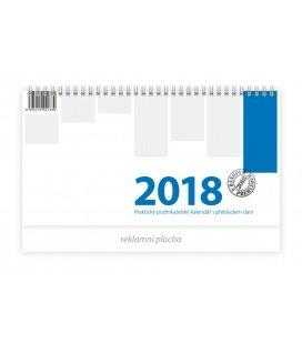 Stolní kalendář Podnikatelský modrý 2018