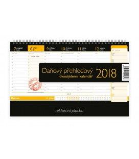 Tischkalender Daňový přehledový 2018