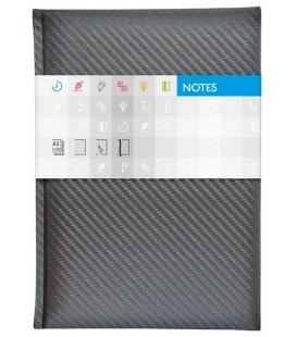 Notepad A5 Carbon lined stříbrný 2018