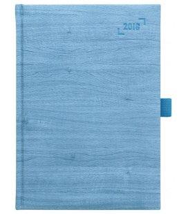 Wochentagebuch - Terminplaner A5 Wood modrý SK 2018