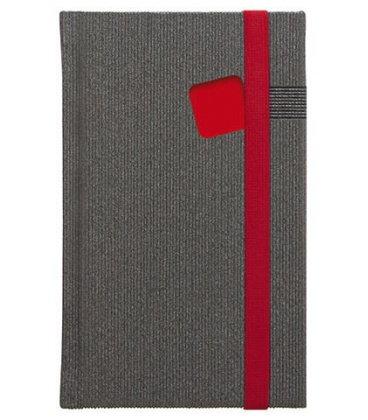 Notes kapesní Mambo červený čtverečkovaný 2018, objednávka od 100 ks