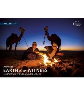 Nástěnný kalendář Portréty Země a života 2018 / Art Wolfe: EARTH IS MY WITNESS 2018