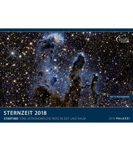 Nástěnný kalendář Hvězdný čas 2018 / STERNZEIT 2018