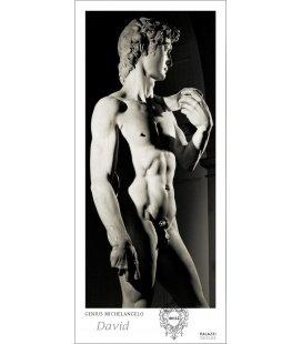 Nástěnný kalendář David - věčný kalendář - PANORAMA / Genius Michelangelo:DAVID I Black &