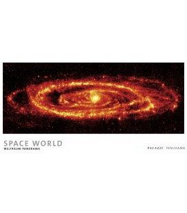 Nástěnný kalendář Svět vesmíru - věčný kalendář - PANORAMA / SPACE WORLD I Weltraum Panora