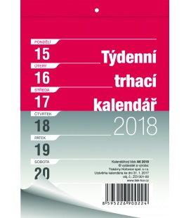 Nástěnný kalendář Blok A6 trhací týdenní 2018