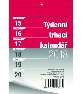 Nástěnný kalendář Blok A5 trhací týdenní 2018