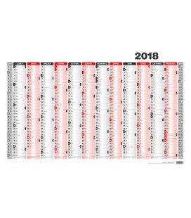 Nástěnný kalendář Mapa A1 roční list formátu 990x678 mm 2018