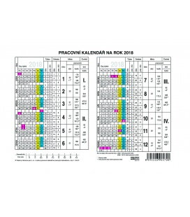 Table calendar Yearly Planing Card 2018