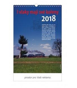 Nástěnný kalendář I vlaky mají své kořeny 2018