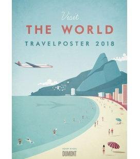 Nástěnný kalendář Plakáty z cest / Henry Rivers: Travelposter 2018