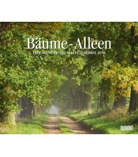 Nástěnný kalendář Aleje / Bäume – Alleen 2018