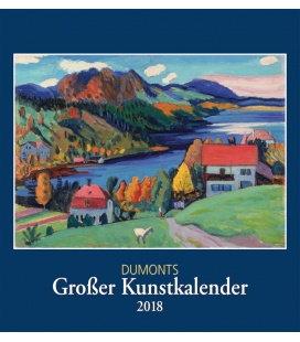Nástěnný kalendář Díla mistrů / DuMonts Großer Kunstkalender 2018