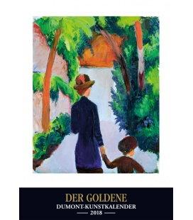 Nástěnný kalendář Zlatý kalendář umění / Goldener Kunstkalender 2018
