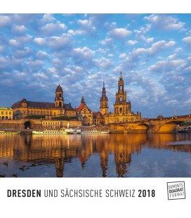 Nástěnný kalendář Drážďany / Dresden 2018