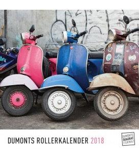 Nástěnný kalendář Mopedy / DuMonts Rollerkalender 2018