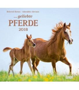 Nástěnný kalendář Koně / ...geliebte Pferde 2018