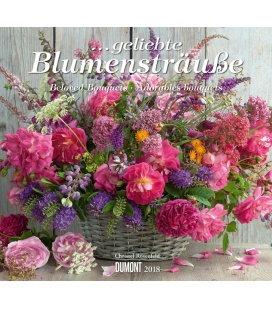 Nástěnný kalendář Kytice / ...geliebte Blumensträuße 2018