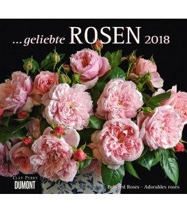 Nástěnný kalendář Růže / ...geliebte Rosen 2018