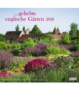 Nástěnný kalendář Anglické zahrady / …geliebte englische Gärten 2018