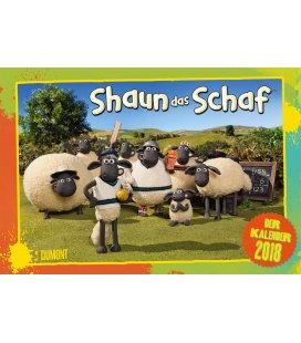 Nástěnný kalendář Ovečka Shaun / Shaun das Schaf 2018