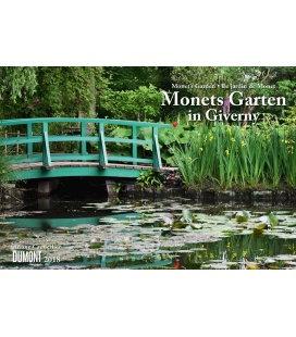 Nástěnný kalendář Monetova zahrada v Giverni / Monets Garten in Giverny 2018