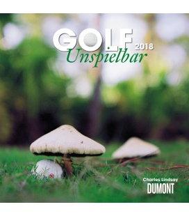 Nástěnný kalendář Golf (s úsměvem) / Golf – Unspielbar 2018