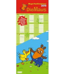 Nástěnný kalendář Rodinný plánovač Myš / Megaplaner Die Maus 2018