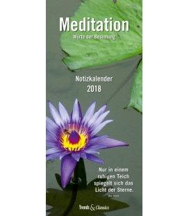 Nástěnný kalendář Plánovač Meditace / Meditation T&C 2018