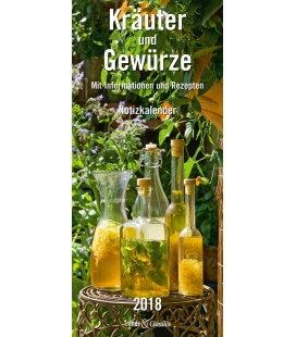Nástěnný kalendář Plánovač Byliny a koření / Kräuter & Gewürze T&C 2018