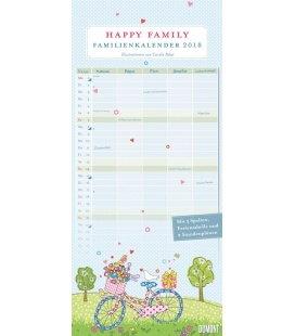 Nástěnný kalendář Rodinný plánovač Šťastná rodina / Familien Happy Family 2018