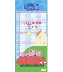 Nástěnný kalendář Rodinný plánovač Peppa Pig / Familien Peppa Pig 2018