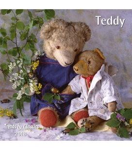 Nástěnný kalendář Medvídek Teddy / Teddy T&C 2018