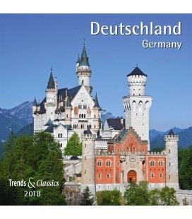 Nástěnný kalendář Německo / Deutschland T&C 2018