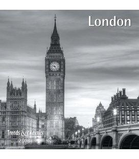 Nástěnný kalendář Londýn / London s/w T&C 2018