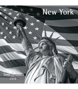 Nástěnný kalendář New York s/w T&C 2018
