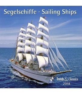 Nástěnný kalendář Sailing, Plachetnice / Segelschiffe T&C 2018