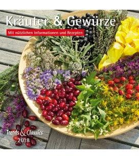 Nástěnný kalendář Bylinky a koření / Kräuter & Gewürze T&C 2018