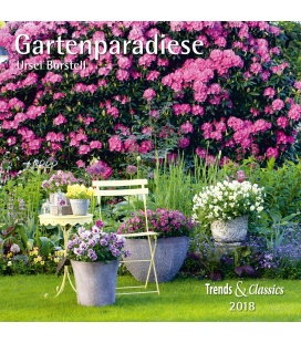 Nástěnný kalendář Zahrady / Gartenparadiese T&C 2018