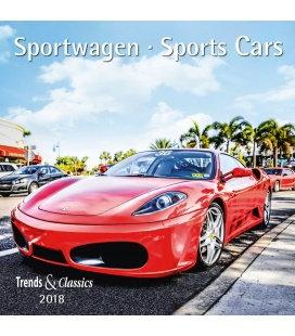 Nástěnný kalendář Sportovní auta / Sportwagen T&C 2018