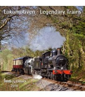 Nástěnný kalendář Lokomotivy / Lokomotiven T&C 2018