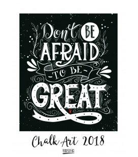 Nástěnný kalendář Chalk Art 2018
