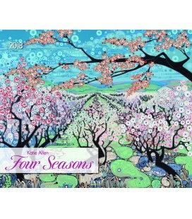 Nástěnný kalendář 4 roční období / Four Seasons - Katie Allen 2018
