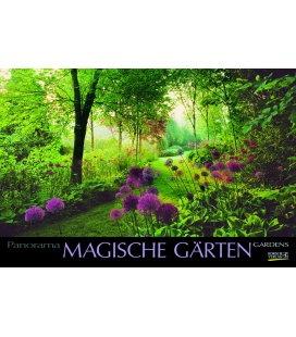 Nástěnný kalendář Magické zahrady / Magische Gärten 2018