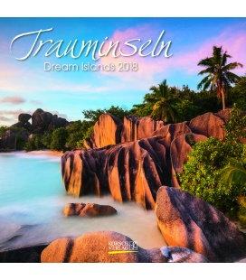Nástěnný kalendář Ostrovy snů / Trauminseln (BK) 2018