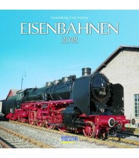 Nástěnný kalendář Železnice / Eisenbahnen (BK) 2018