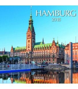 Nástěnný kalendář Hamburg (BK) 2018