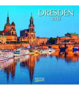 Nástěnný kalendář Drážďany / Dresden (BK) 2018