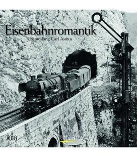 Nástěnný kalendář Romantika železnic / Eisenbahnromantik (BK) 2018